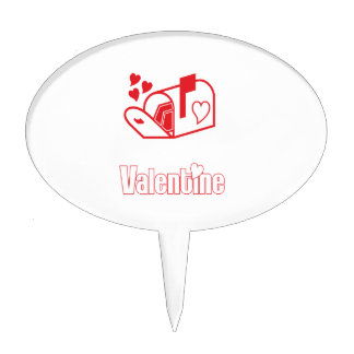 Tarjeta del día de San Valentín Decoraciones De Tartas