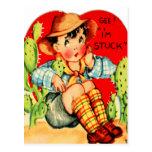 Tarjeta del día de San Valentín alemana del Postal