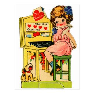 Tarjeta del día de San Valentín alemana del vintag Tarjetas Postales