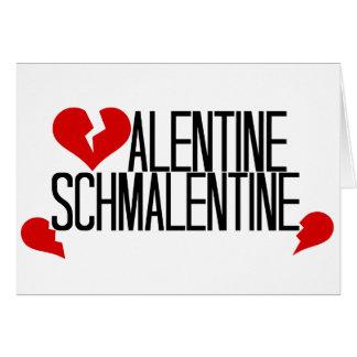 Tarjeta del día de San Valentín anti