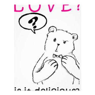 tarjeta del día de San Valentín anti del oso Membrete A Diseño