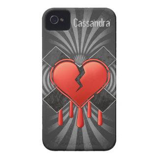 Tarjeta del día de San Valentín anti iPhone 4 Cárcasa