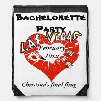 Tarjeta del día de San Valentín Bachelorette de La Mochila