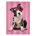 Tarjeta del día de San Valentín Boston Terrier