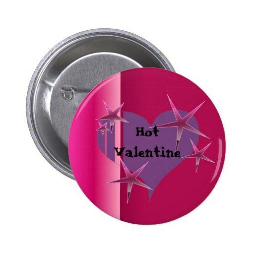 Tarjeta del día de San Valentín caliente Pin Redondo De 2 Pulgadas