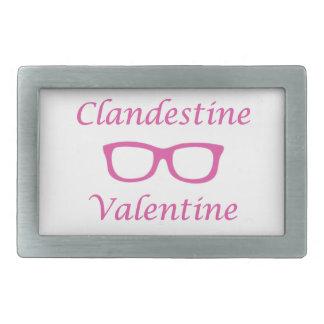 Tarjeta del día de San Valentín clandestina 01P Hebilla De Cinturon Rectangular