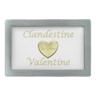 Tarjeta del día de San Valentín clandestina 06G Hebillas De Cinturón Rectangulares
