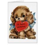 Tarjeta del día de San Valentín cocker spaniel del