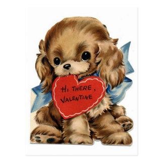 Tarjeta del día de San Valentín cocker spaniel del Postales