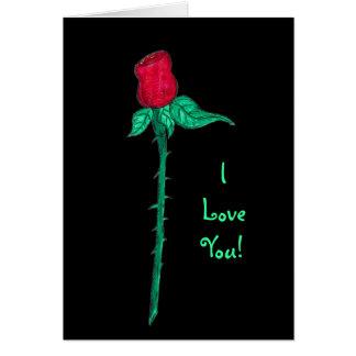 ¡Tarjeta del día de San Valentín - color de rosa -