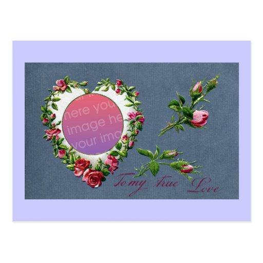 Tarjeta del día de San Valentín color de rosa del Postal