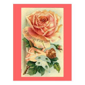 Tarjeta del día de San Valentín color de rosa y de Tarjetas Postales