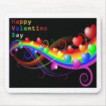 tarjeta del día de San Valentín colorida Alfombrilla De Ratón
