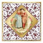 Tarjeta del día de San Valentín con el cordón y ni
