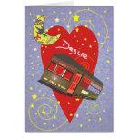 Tarjeta del día de San Valentín creciente del