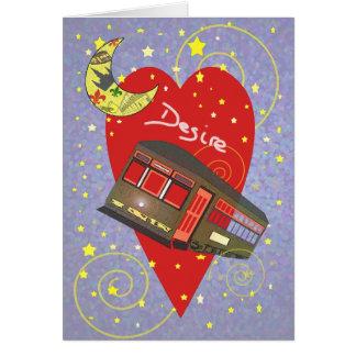 Tarjeta del día de San Valentín creciente del dese