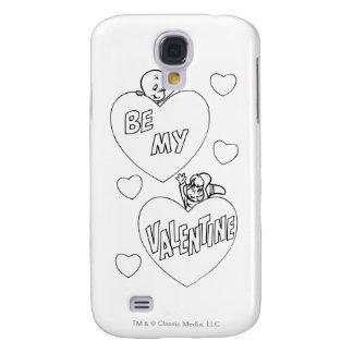 Tarjeta del día de San Valentín de Casper y de Funda Para Galaxy S4