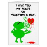 Tarjeta del día de San Valentín de Cthulhu