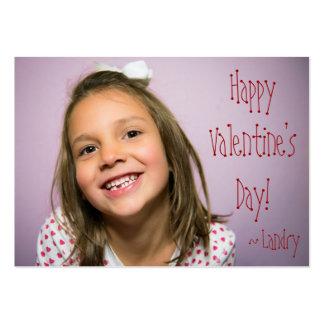 Tarjeta del día de San Valentín de encargo para Tarjetas De Visita Grandes