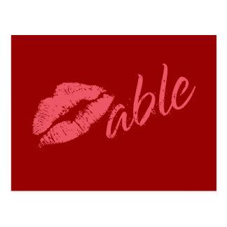 Tarjeta del día de San Valentín de Kissable Postal