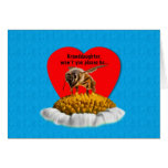 Tarjeta del día de San Valentín de la abeja de la
