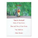Tarjeta del día de San Valentín de la ardilla Invitación 12,7 X 17,8 Cm