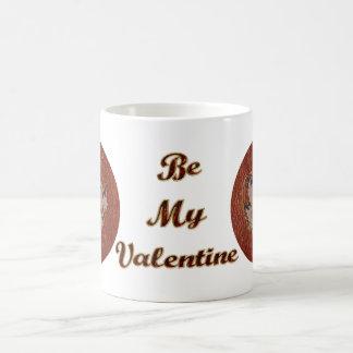 Tarjeta del día de San Valentín de la Cuero-Mirada Tazas De Café