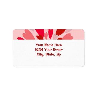 Tarjeta del día de San Valentín de la momia del am Etiquetas De Dirección