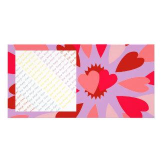Tarjeta del día de San Valentín de la momia del am Plantilla Para Tarjeta De Foto