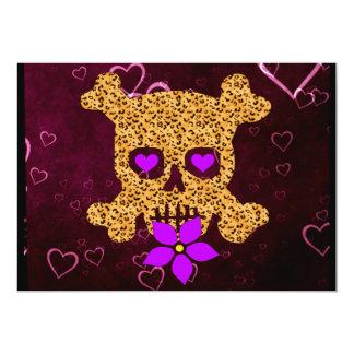 """Tarjeta del día de San Valentín de la piel del Invitación 5"""" X 7"""""""
