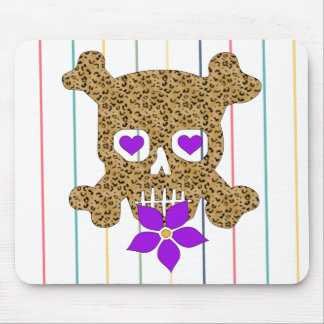 Tarjeta del día de San Valentín de la piel del leo Mouse Pads