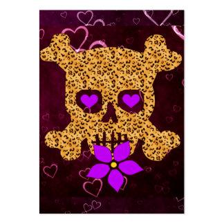 Tarjeta del día de San Valentín de la piel del leo Tarjetas De Visita