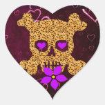 Tarjeta del día de San Valentín de la piel del Calcomanía Corazón