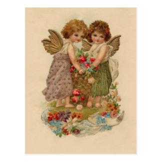 tarjeta del día de San Valentín de la querube del  Tarjeta Postal