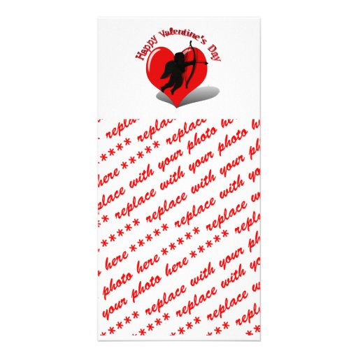 Tarjeta del día de San Valentín de la silueta del  Tarjetas Fotográficas Personalizadas