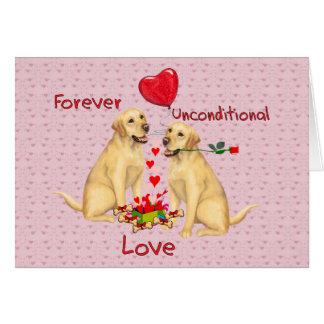 Tarjeta del día de San Valentín de Labrador