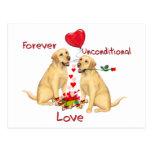 Tarjeta del día de San Valentín de Labrador Postales