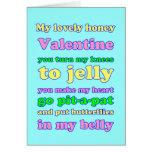 ¡Tarjeta del día de San Valentín de las rodillas d