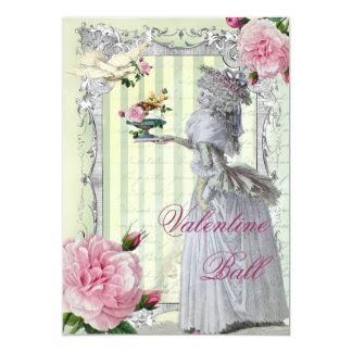 """Tarjeta del día de San Valentín de Lettre D'amour Invitación 5"""" X 7"""""""