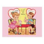 Tarjeta del día de San Valentín de los amores de l Postal