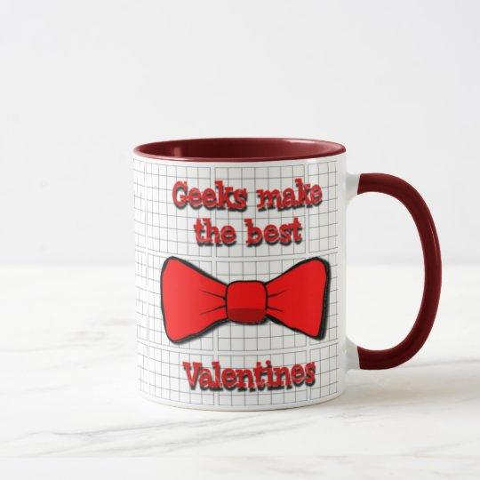 Tarjeta del día de San Valentín de los frikis Taza
