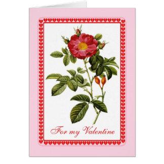 Tarjeta del día de San Valentín de los jardineros