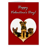 Tarjeta del día de San Valentín de los perritos de