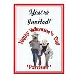 """Tarjeta del día de San Valentín de los perros del Invitación 5"""" X 7"""""""