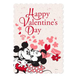 """Tarjeta del día de San Valentín de Mickey y de Invitación 5"""" X 7"""""""