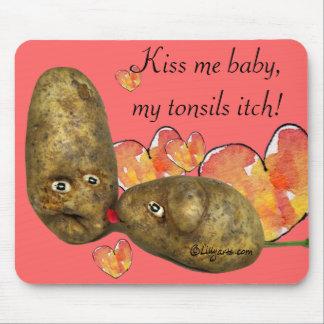 Tarjeta del día de San Valentín de Mousepad de la