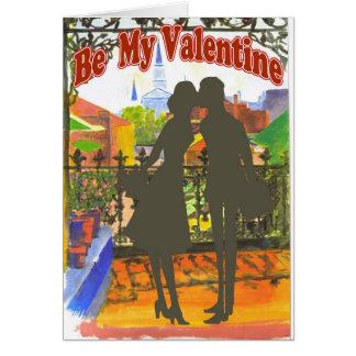 Tarjeta del día de San Valentín de New Orleans