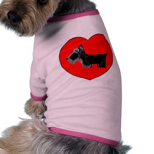 Tarjeta del día de San Valentín de Scotty Camisas De Mascota