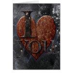 Tarjeta del día de San Valentín de Steampunk te am