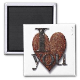 Tarjeta del día de San Valentín de Steampunk te am Imán De Frigorifico